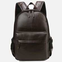 New Trending Leather Business Backpack Black Casual School <strong>Bags</strong> For Teenagers Backpack