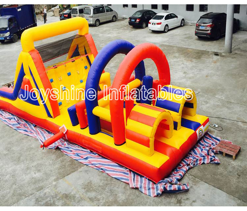 2019 NEW Adult Kids Challenge Game 5K Run Races Bouncer Outdoor Wipeout Inflatable Obstacle 5K For Sale