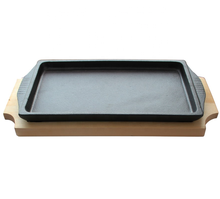 Cast Iron Sizzler Hot Serving Dish Cast Iron Steak Skillet Serving <strong>Plate</strong>