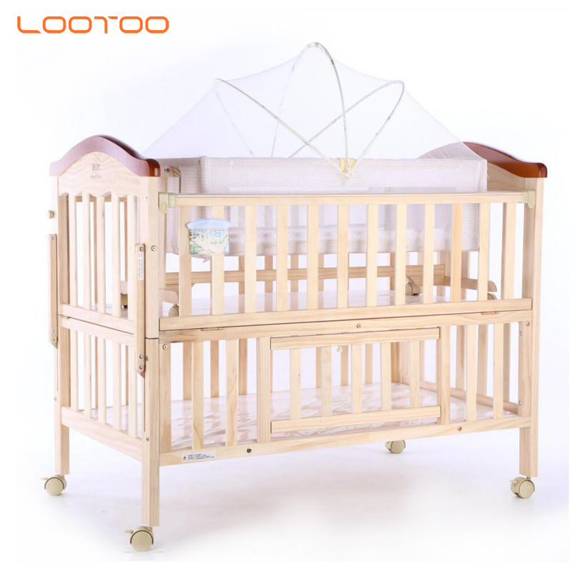 cheapest luxury royal white set designs swing convertible foldable pine solid wooden furniture bedding baby crib for infant