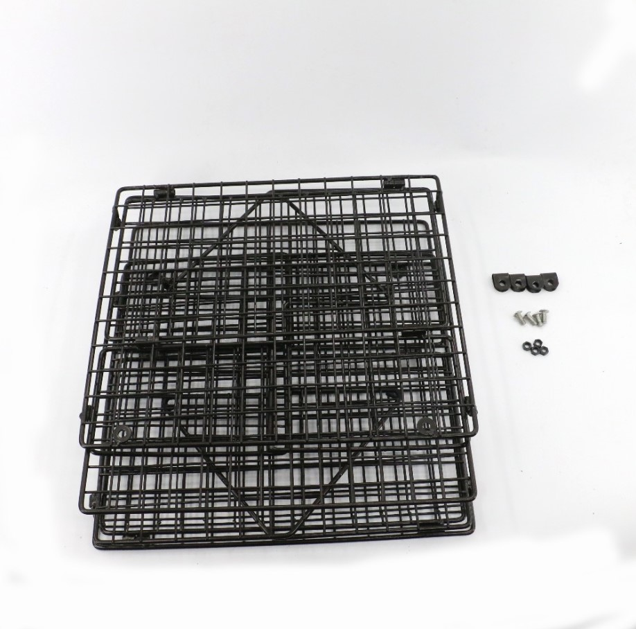 Kitchen Items Silver Black 3 Tier Detachable Metal Wire Wall Mounted Hanging Vegetables Fruit Storage Baskets
