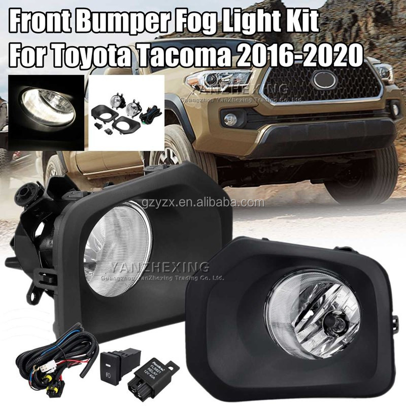 Car 12V <strong>H10</strong> <strong>Halogen</strong> Front Bumper Fog Light Signal <strong>Lamp</strong> with Harness For Toyota Tacoma 2016 2017 2018 2019 Car Accessories