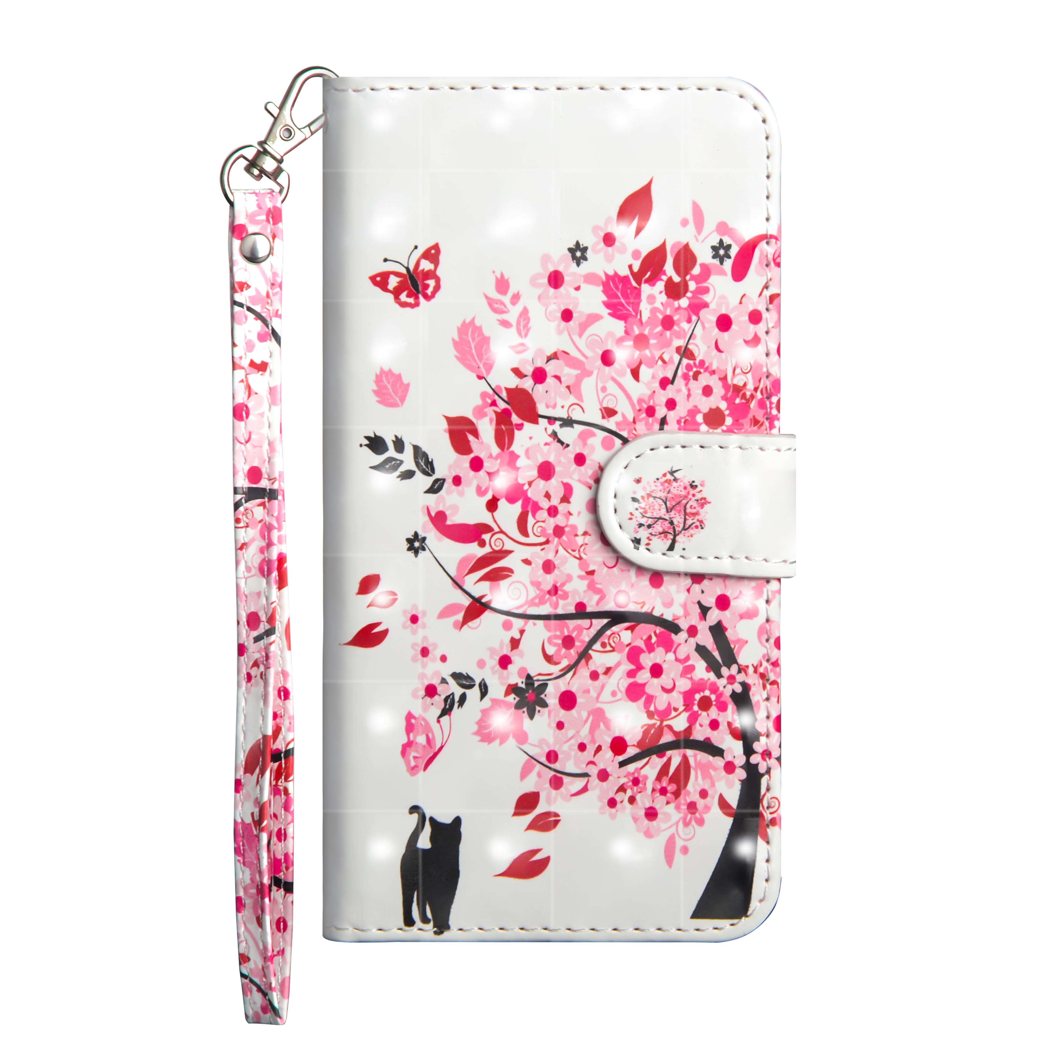 3D Colored Painting PU Leather Flip Lanyard Wallet <strong>Phone</strong> Case For LG <strong>W10</strong>