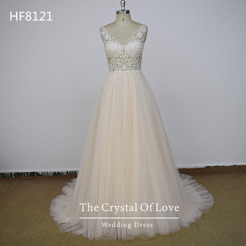 beach casual modest wedding dress, lace wedding dress a line for sale