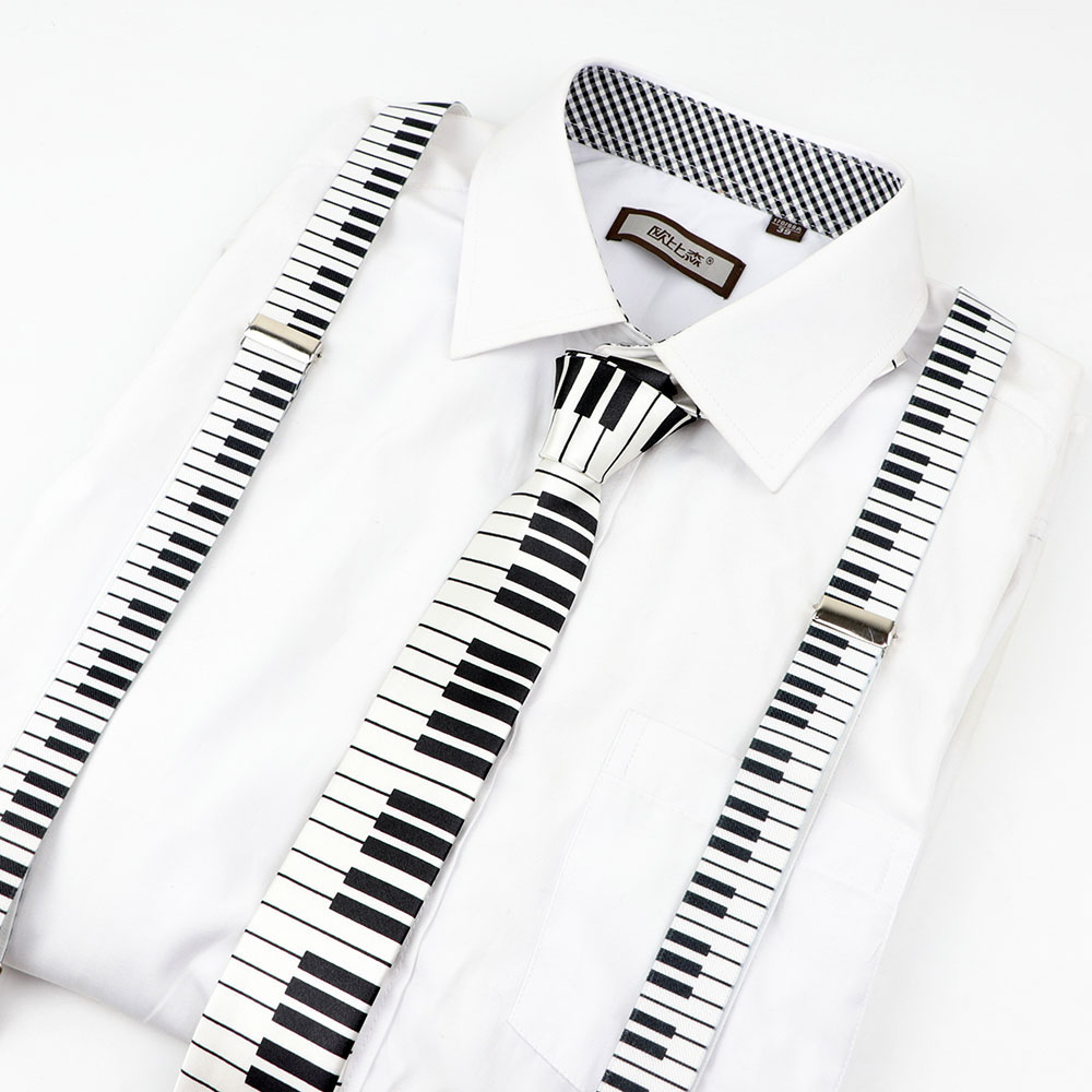 Mens Women Kids Music Piano military Printed Suspenders Tie Bow Tie Sets Party Play Shirt Braces Butterfly Belt Pants <strong>Jeans</strong> Gift