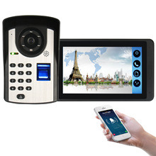 1000TVL HD WiFi Video Door <strong>Phone</strong> with 7inch Touch Screen Monitor, support access control by fingerprints, code and <strong>mobile</strong> app