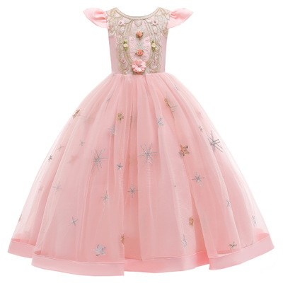 Flower Girl Kids Dresses Lace Embroidery Princess Dress Formal Long Prom Gown Children Girls Clothing Teen Clothes 2 <strong>10</strong> 12 <strong>Y</strong>