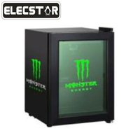 Commercial glass door mini display fridge/Energy Drink Refrigerator With LED Logo
