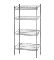"NSF & ISO Approved Chrome Plated 4-tier 18""X36"" Commercial Wire Shelving"