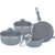 Long-lasting stone coating  dishwasher safe oven safe cookware set