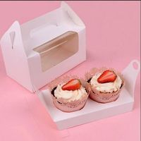 Customized Paper Round Wedding Cake Boxes With Window In Bulk