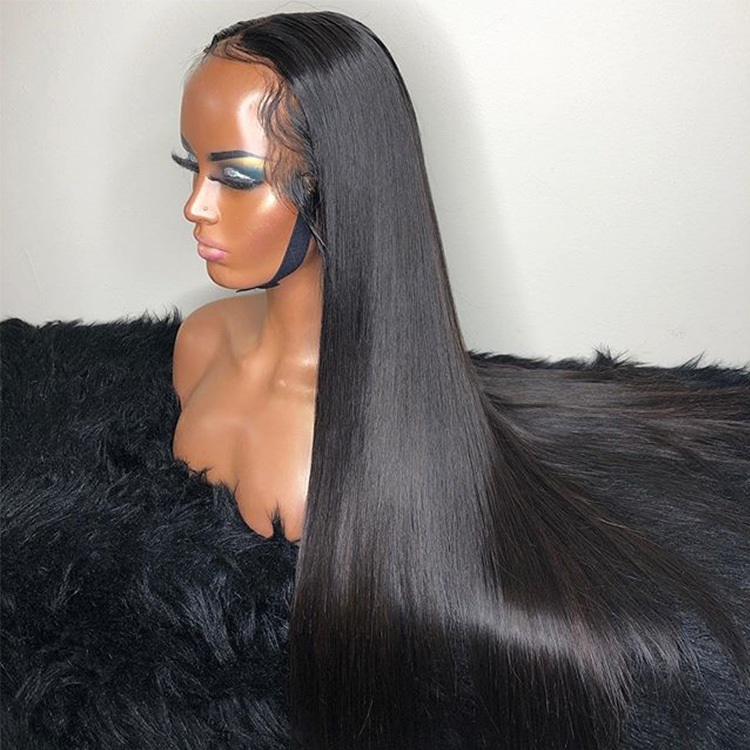 Amazon Real straight raw brazilian human hair wigs for black women,Long human hair lace front wig,front lace wig human hair