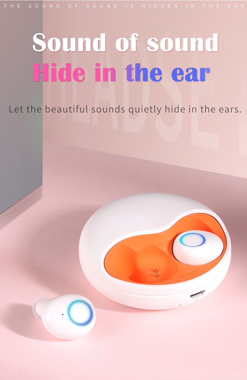 Promotional Noise Cancelling Stereo Mini  earphones bluetooth wireless earbuds