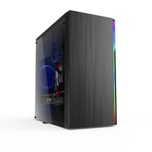 Soeyi Branded New Design  RGB Strip  Micro ATX Desktop Tower Acrylic PC Case Diy Computer  Case Chassis