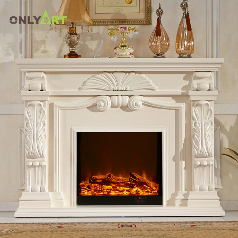 indoor beautiful decoration graphic custom natural stone fireplace