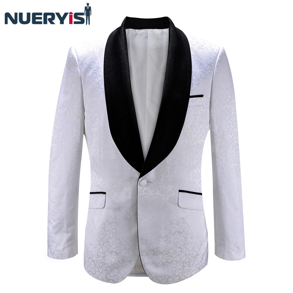 Factory Directly Supply Shawl Lapel Mens White Wedding Tuxedo Bespoke Wedding One Button Tailored Elegant Suits For Men