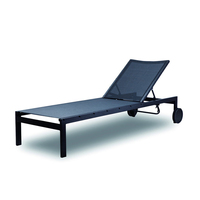 Commercial Contract TOPHINE Furniture Tall Outdoor Patio Aluminium Frame Tslin Mesh Pool Lounge Chairs