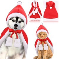custom logo pet christmas winter costume dress hat cloak cat dog apparel and cap S M L