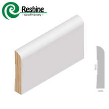 White Primed Solid Wood Wall Baseboard Bullnose <strong>Moulding</strong>
