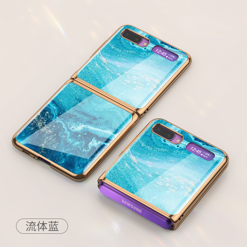 Designer Luxury Phone Cover Case Tempered Glass For Samsung Galaxy <strong>Z</strong> Flip Folding Case