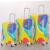 bags travelling: wholesale decent pc material butterfly print hard shell telescopic travel luggage stock