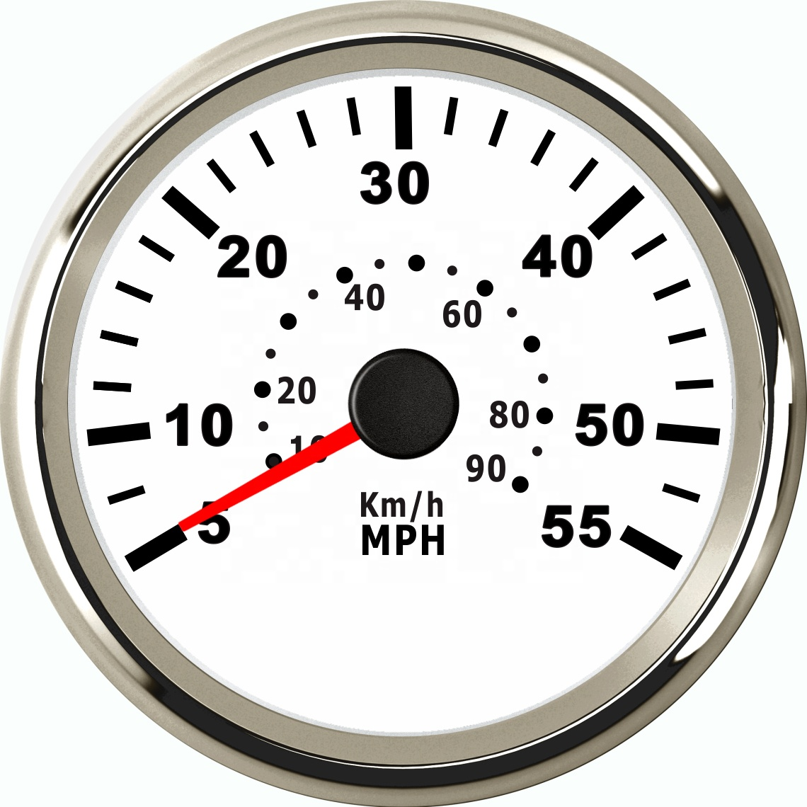 85mm Needle Speedometer For Marine Yacht Motorboat 55MPH