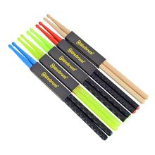 5A Nylon Drumsticks for Drum Set Light Durable Plastic Exercise ANTI-SLIP Handles Drum Sticks for Kids Adults Musical Instrument