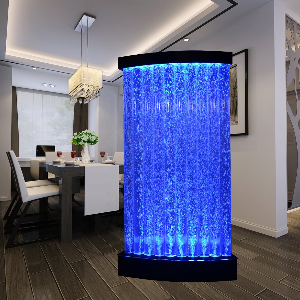 indoor wall fountain LED acrylic water bubble room dividers <strong>screen</strong>