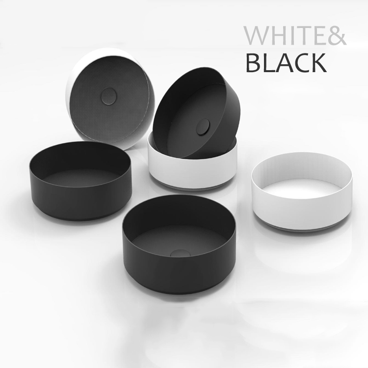 Hot Sale Polished Nickel Round Stainless Steel Bathroom Sink, Deck-mounted Vessel Sink Bowl