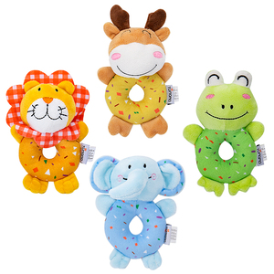 4PCS soft washable handbell stuffed baby plush toy