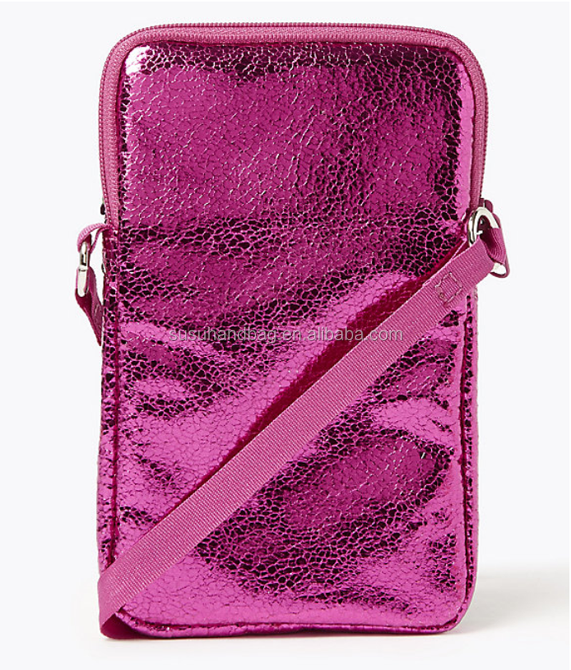 Colorful Sequin Phone Bag with Shoulder Strap