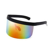 High Quality Hot Sell Trendy Transparent Large Windproof Fashion Rectangle <strong>Plastic</strong> Sport <strong>Sunglasses</strong>