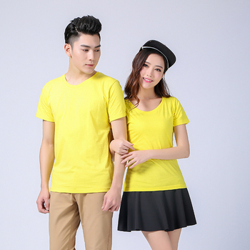 Cheap Price Custom LOGO Printing Plain Man clothes Yellow Designers White T shirts