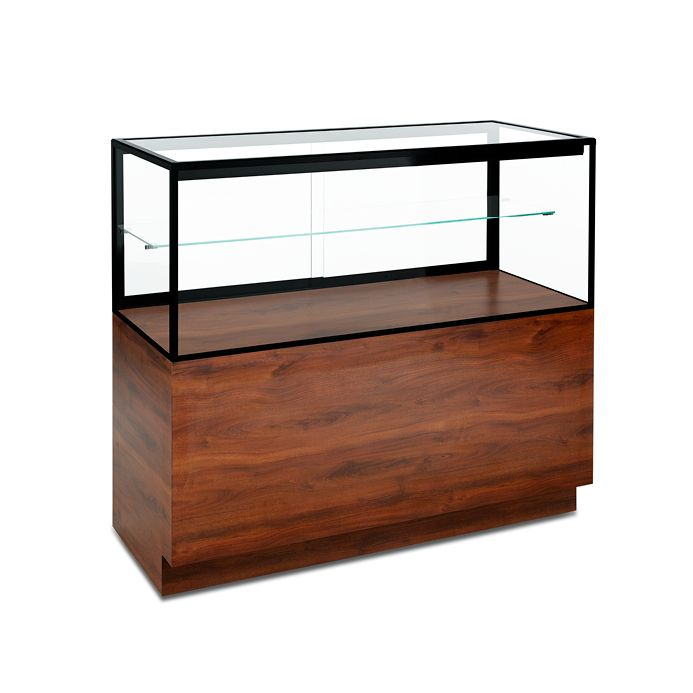 Stainless Steel Jewelry Display Cases Glass Jewelry Display Showcase Table & Wooden LED Light Jewelry Showcase Counter For Sale