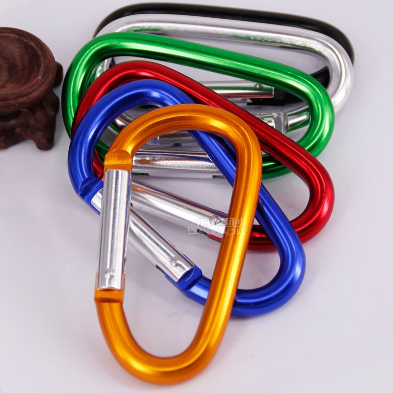Baichaoli factory direct prices type <strong>10</strong> <strong>D</strong> high-quality safety buckle aluminium alloy material for knapsack quick hang carabiner