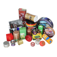 Customized empty metal tin can gift packaging box