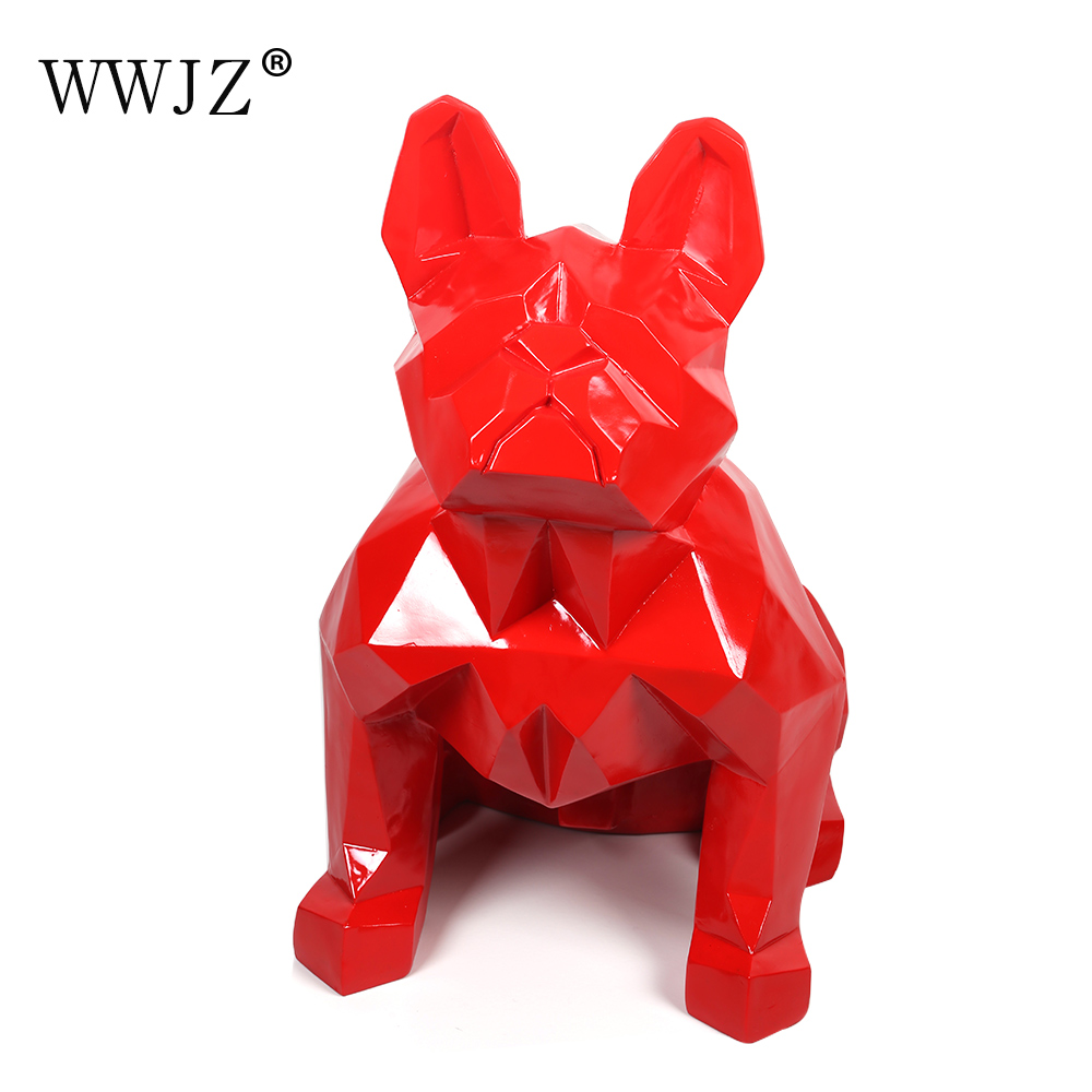 Low MOQ Polyresin Unique Red or Custom Color Big Size Indoor and Outdoor in Fiberglass Dog Home <strong>Decoration</strong>
