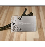 Free Design Customized Cutout Pattern Membership Cards Etched Business Metal Card
