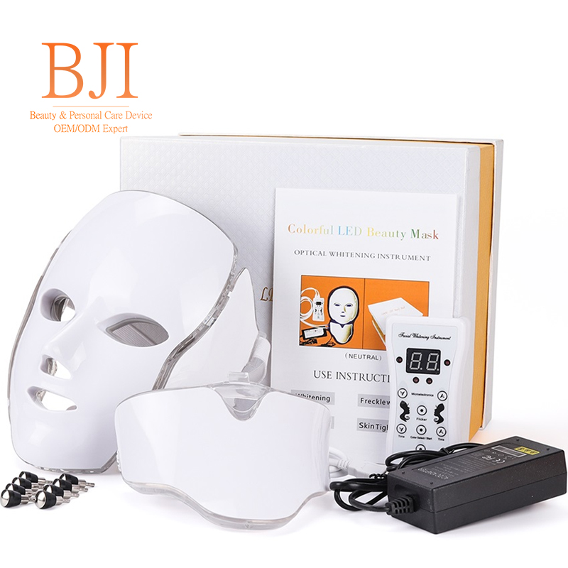 PDT Photon Light Facial Skin Beauty Therapy 7 Colors <strong>LED</strong> Face Mask