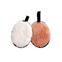 New Arrivals Cleansing Puff Velvet Surface Microfiber Makeup Removal Sponge puff