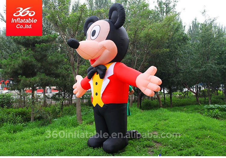 Hot-selling advertising Inflatable Movie Characters Mickey Mouse Inflatable Cartoon cute Mini mouse for advertising decoration
