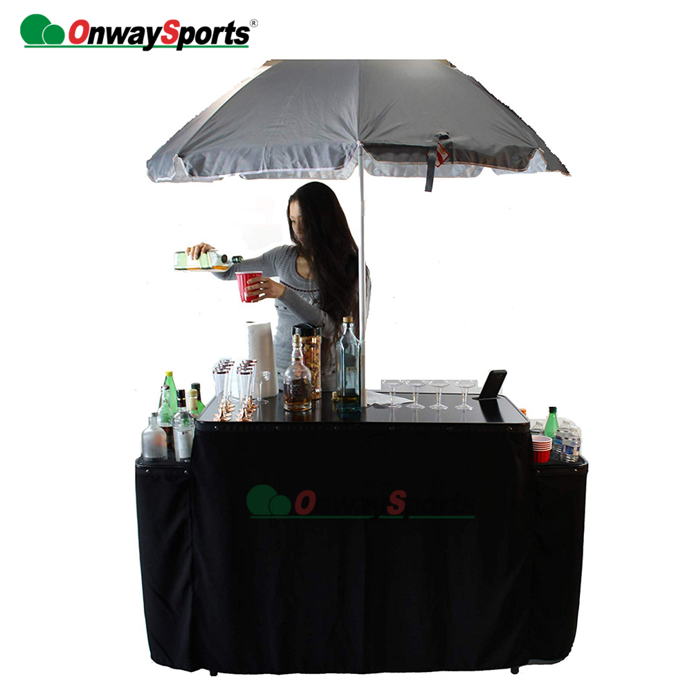 New pool party Aluminum Mobile Folding Portable Bar <strong>Table</strong>