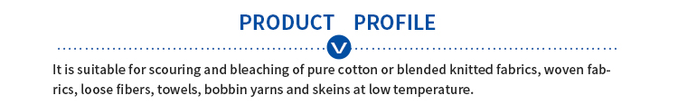 Low temperature refining agent JV-701 is suitable for pure cotton or blended knitted fabrics