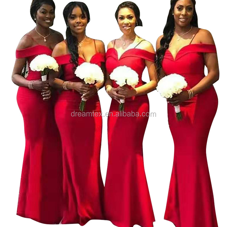 Pretty high quality pretty gorgeous satin lace mermaid dresses wedding bridal bridesmaid Dresses