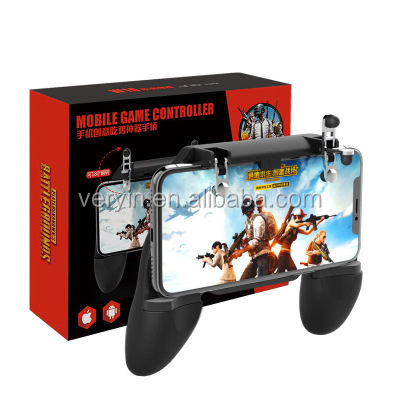Amazon hot selling mobile game controller <strong>W10</strong> gamepad for smartphone PUBG trigger with holder
