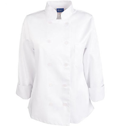 Long Sleeve Chef Coat for women classic style chef clothing with embroidery logo