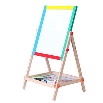 OEM High Quality Double Sided Wooden Drawing Board Kids Educational Magnetic Wooden Drawing Board
