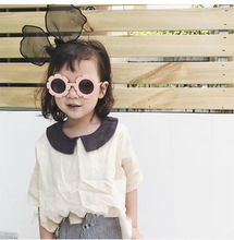 Flower Round <strong>Plastic</strong> Frame Kids <strong>Sunglasses</strong> 2020 Comfortable Colorful Party Children Glasses
