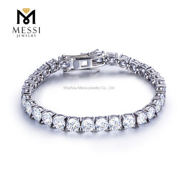 Messi Jewelry 0.5ct/5mm DEF white classic design 14k 18k gold tennis moissanite bracelets for women