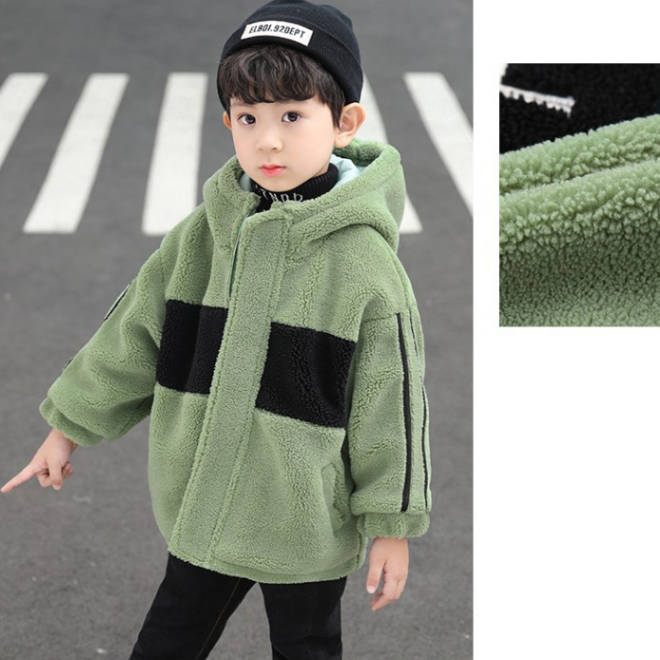 KS2922 Hooded boys fur jacket new winter 3 different colors jackets for boys winter